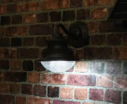 gama sonic gs 122 barn outdoor solar wall light at night