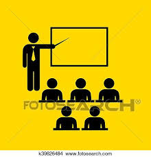 Symbol For Teacher Clipart Of Teacher And Audience Symbol K39826484 Search Clip Art