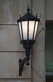 A Light Fixture Mounted on a Building Exterior