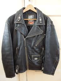 sel vintage leather biker jacket woman