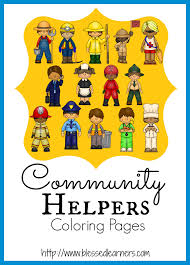 Small Picture Community Helper Coloring Pages Blessed Learners