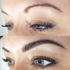 eyebrow microblading blonde hair. before procedure eyebrow microblading blonde hair e