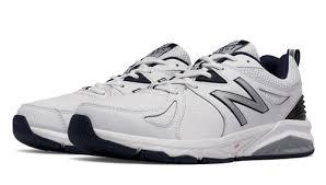 Mens Large New Balance 857v2 Cross-Training Shoes - White with Navy to size 18 6E   XLfeet