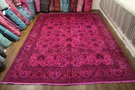 pink overdyed persian rugs