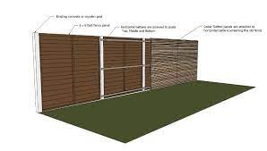 a concrete posts and gravel boards