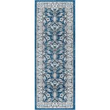 navy gray and aqua 7 foot runner rug kensington rc willey furniture
