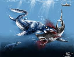 megalodon shark compared to t rex.  Shark Tylosaurus Attacks Megalodon By Raphael041  Intended Shark Compared To T Rex W