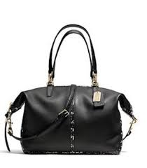 NWT COACH BLEECKER TWO TONED PYTHON LEATHER COOPER SATCHEL F27984