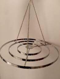 2pcs 10 w stainless steel chandelier frame wedding party centerpiece hanger diy