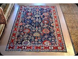 royal blue background persian rug 7 x 10 handmade carpet