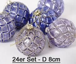 Weihnachtsbaumkugel Glas Lila 24er Set D 8cm