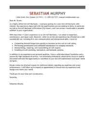 best aircraft mechanic cover letter examples livecareer edit