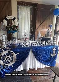 baptême sur un thème marin