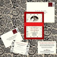65 best layered wedding invitations images on pinterest metallic Red Velvet Wedding Invitations three layer wedding invitation, red velvet paper, ivory metallic paper with pattern, ivory Wedding Invitation Templates