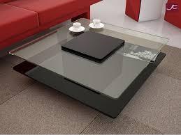 contemporary square coffee table glass
