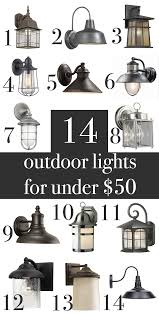 farmhouse craftsman rustic outdoor wall lights under 50