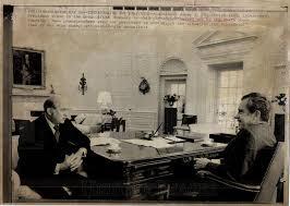 nixon oval office. 1974 Press Photo Kilpatrick Nixon Oval Office Interview - Historic Images