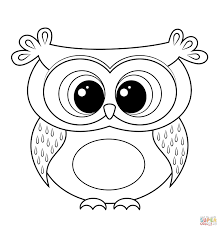 Small Picture Owl Cartoon Drawing Cartoon Owl Coloring Page Free Printable