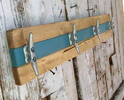 Boat Cleat Coat Rack Classy Nautical Boat Teal And Natural Pine Towel Or Coat Rack Beachfront