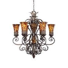 metropolitan n6516 cattera bronze 6 light 1 tier chandelier from the salamanca