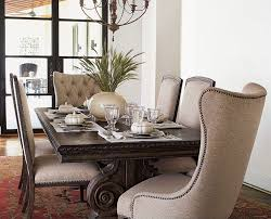 awesome upholstered dining chairs with nailheads sets home decor and dining room upholstered chairs designs