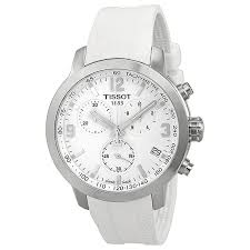 tissot prc 200 chronograph white dial white rubber mens watch zoom tissot tissot prc 200 chronograph white dial white rubber mens watch t0554171701700