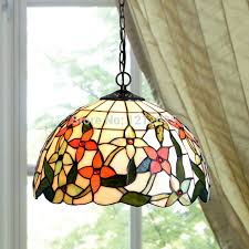 Captivating Tiffany Style Floral Pendant Lamp For Dinning Room Stained Glass Lampshade  Vintage Lights Luminaria Home Kitchen ...