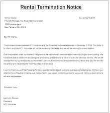 Rent Notice Letter Sample Lease Termination Notice Letter Arzamas