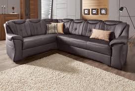 Polsterecke Dunkelbraunmokka Natur Leder Couch Sofa