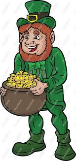 leprechaun with pot of gold clip art   royalty free clipart    leprechaun with pot of gold