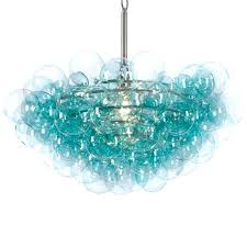 turquoise glass chandelier beaded pendant turquoise blown glass chandelier