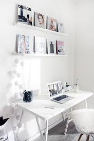 work desk ideas white office. A Simple Bright, White Desk Space At Home Work Ideas Office R