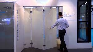 bi folding frameless doors from esg featuring esg switchable lcd privacy glass you