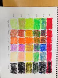Colleen Gale Drawing Oil Pastel Color Chart