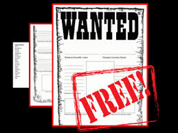 Wanted Poster Template For Pages Bacteria Wanted Poster Template From Mizzz Foster On