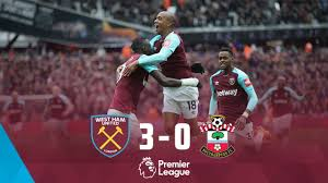 The match is a part of the premier league. Highlights West Ham United 3 0 Southampton Youtube