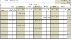 Schedule Document Template 6 Free Staff Schedule Templates Using Ms Excel And Ms Word