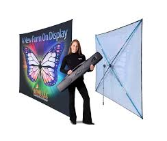 Portable Stands For Display ShowFlex Ultra Pop Up Fabric Trade Show Display 44