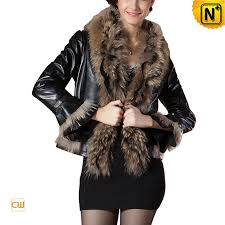 fur trimmed leather jacket cwmalls com