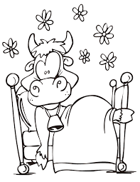 Small Picture Funny Cow Coloring Page H M Coloring Pages