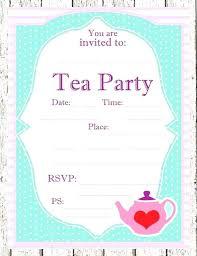 Tea Invitations Printable Victorian Tea Party Invitations Printable Tea Party Invitations