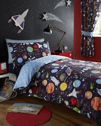 space planet spaceship sun junior bed toddler bed duvet cover set 120cmx150cm 5027392398466