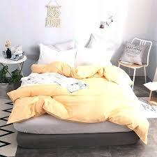 solid color duvet covers elegant apricot yellow cotton soft cover queen size quilt case twin xl