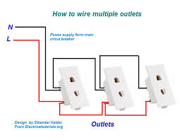 how to wire multiple outlets urdu hindi video tutorial wire multiple outlets diagram