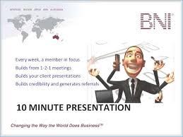 Bni 10 Minute Presentation Template 1 Bni 10 Minute Presentation