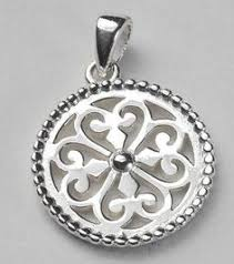 scroll design round pendant silver rounds whole jewelry sterling silver chains