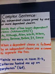 Complex Sentence Anchor Chart Anchors Away The Literacy Effect