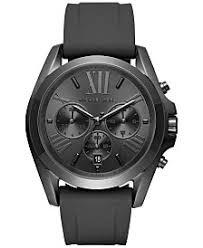 michael kors mens watches macy s michael kors men s chronograph bradshaw black silicone strap watch 47mm mk8560