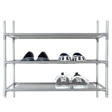 Home Basics 10 Tier Coated Non Woven Shoe Rack Amazon 100Tier Coated NonWoven Shoe Rack in Grey Home Kitchen 8