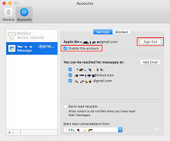 how to sign out of imessage on mac 2